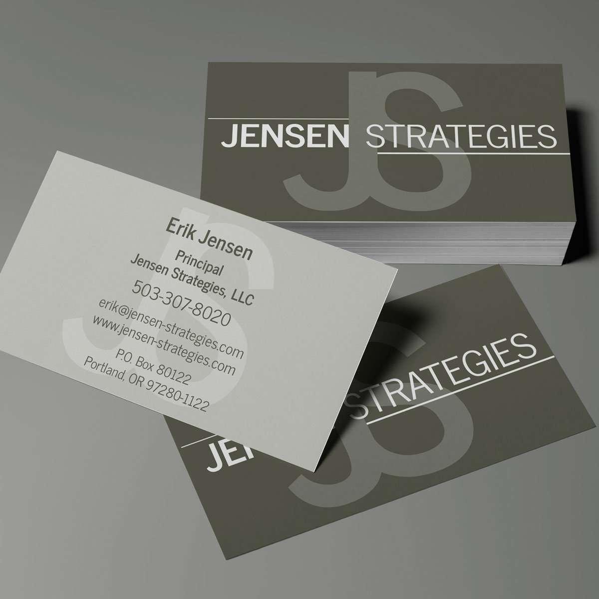 Jensen Strategies business card