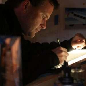 Patrick Neary in Mad Bird Design studio