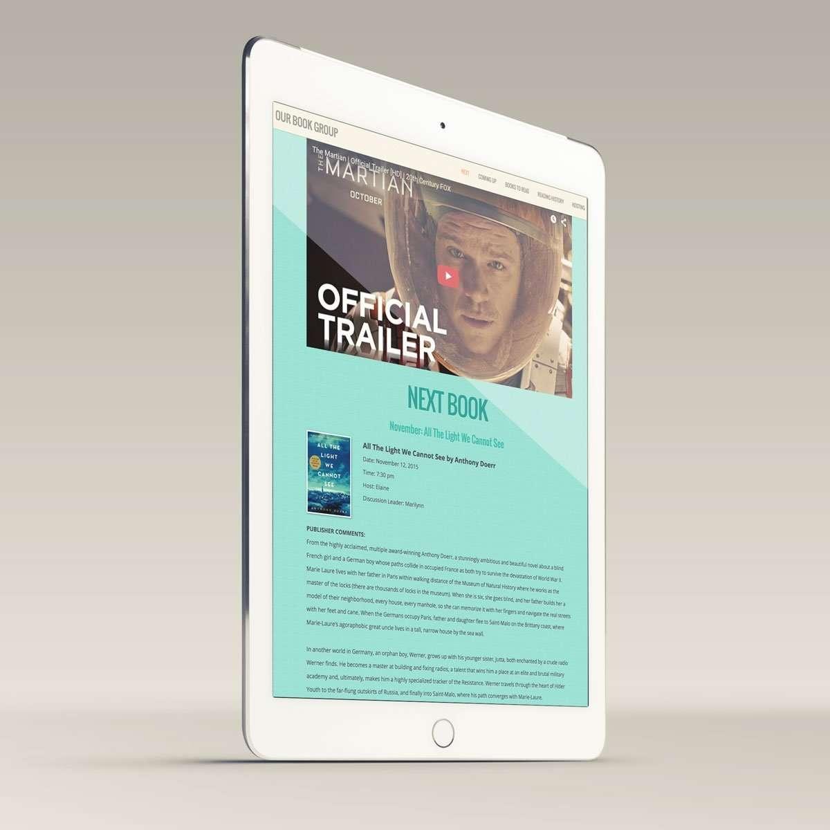 Book Group Website