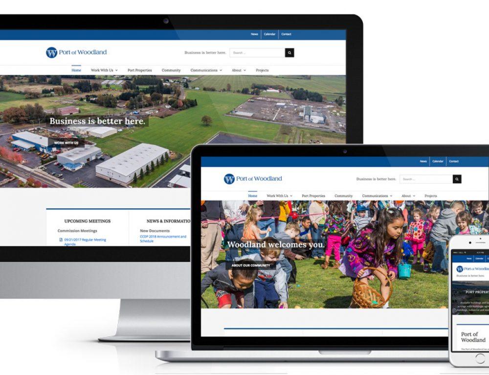 Port of Woodland Website