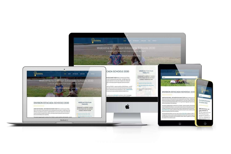 Website design for Envision Estacada Schools 2030