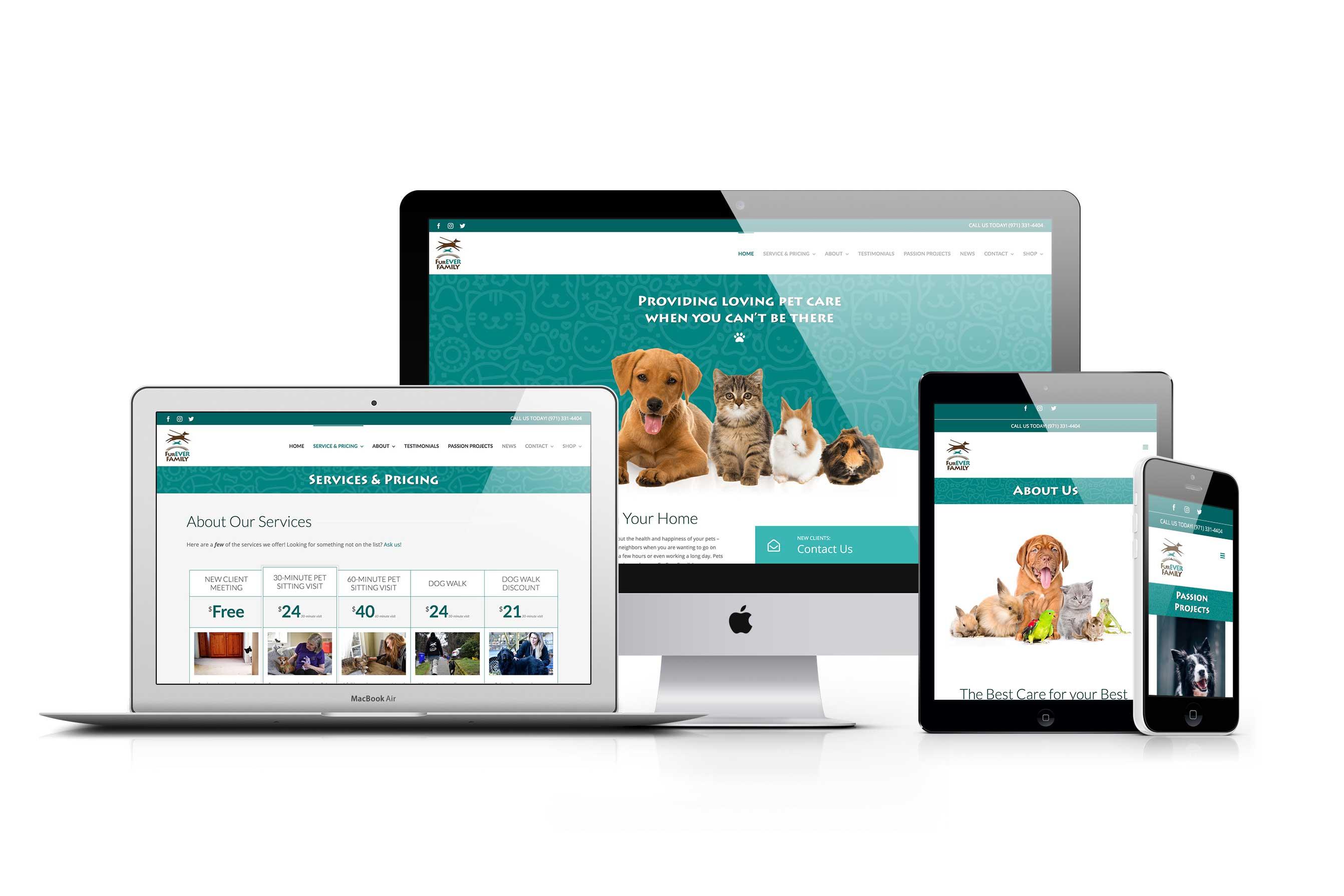 FurEver Family Pet Services website